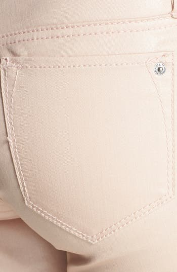 Alternate Image 3  - Standards & Practices Zip Cuff Coated Skinny Jeans (Coated Rose)