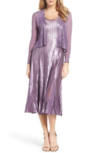 Komarov A-Line Dress with Jacket (Regular & Petite)