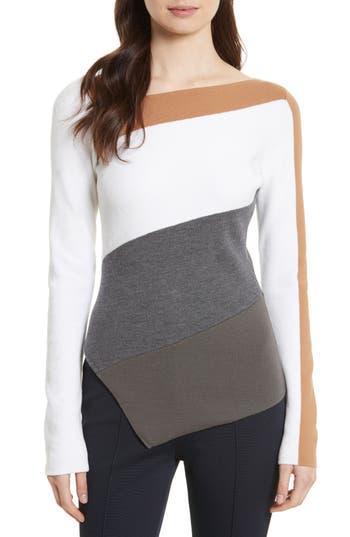 Diane von Furstenberg Colorblock Asymmetrical Top