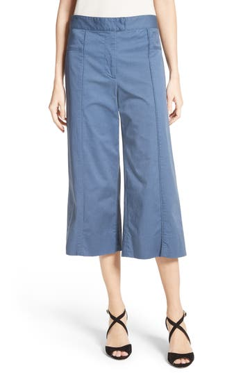 Veronica Beard Cheyenne Wide Leg Crop Pants