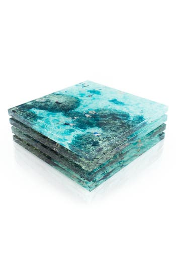 Reef Set Of 4 Coasters by Gray Malin