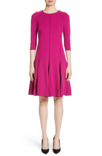 Armani Collezioni Seamed Jersey Fit & Flare Dress