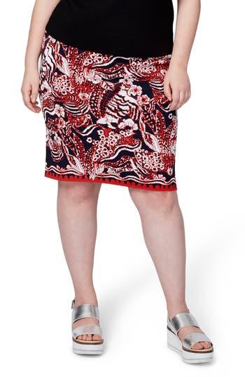 RACHEL Rachel Roy Jacquard Pencil Skirt (Plus Size)