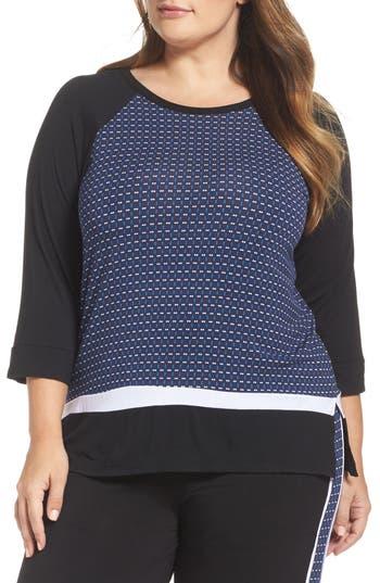 DKNY Mixed Print Sleep Shirt (Plus Size)