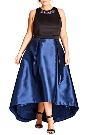 City Chic Regal Me Charmeuse Ballgown (Plus Size)