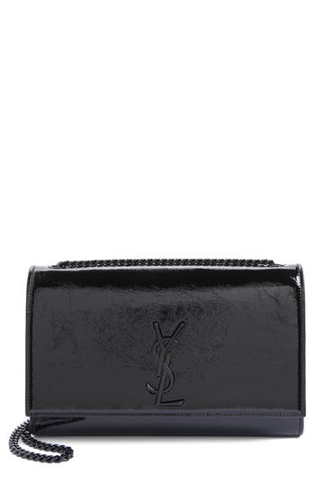Saint Laurent Medium Kate Glazed Leather Crossbody Bag