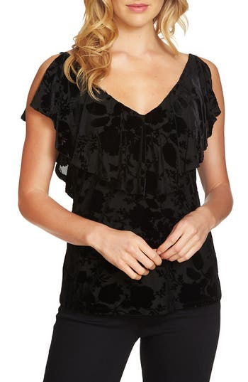 1.STATE Velvet Burnout Top