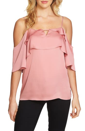 1.STATE Tiered Cold Shoulder T..