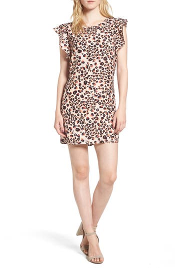 cupcakes and cashmere Zelene Animal Print Shift Dress