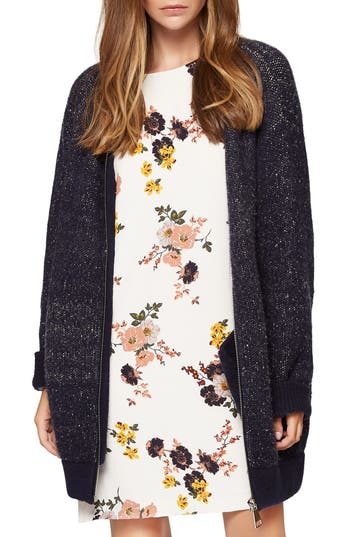Sanctuary Sweet & Cozy Sweater Knit Bomber Jacket