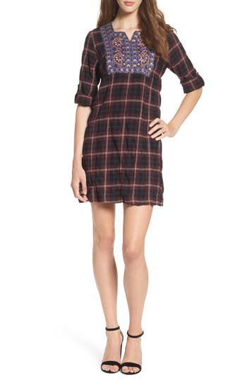 THML Plaid Shift Dress