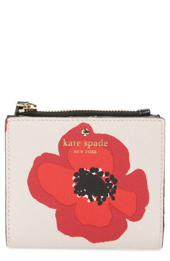 kate spade new york hyde lane poppy adalyn leather wallet