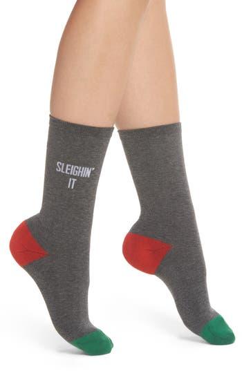 SOCKART Sleighin' It Crew Socks