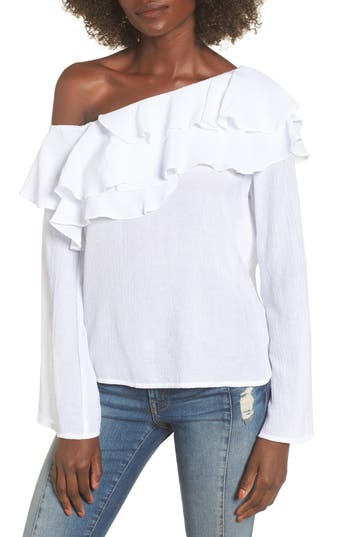 Socialite Ruffle One-Shoulder Top