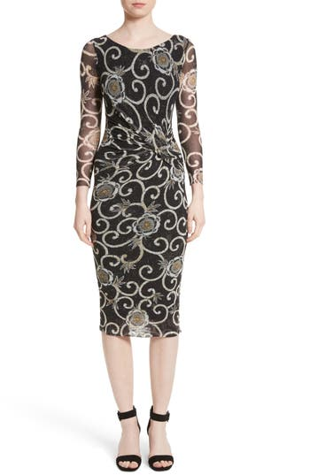 Fuzzi Floral Print Ruched ..