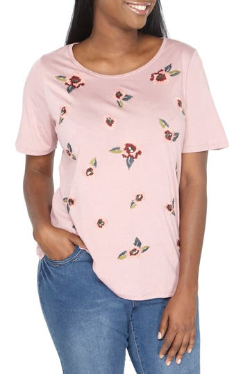 Evans Floral Embroidered T..
