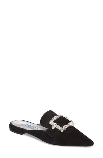 Prada Crystal Buckle Loafer Mule (Women)