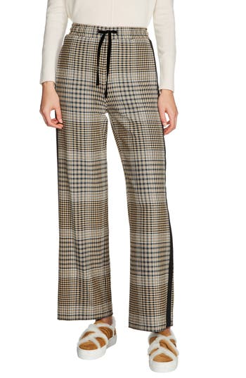 maje Checked Jogging Pants
