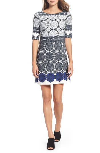 Eliza J Jersey Shift Dress (Regular & Petite)