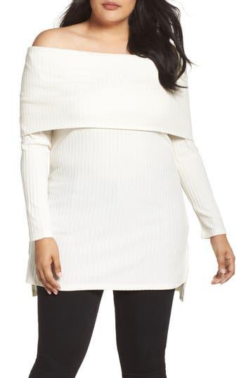 Melissa McCarthy Seven7 Off the Shoulder Tunic (Plus Size)