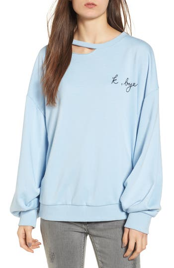 Embroidered Cutout Sweatshirt
