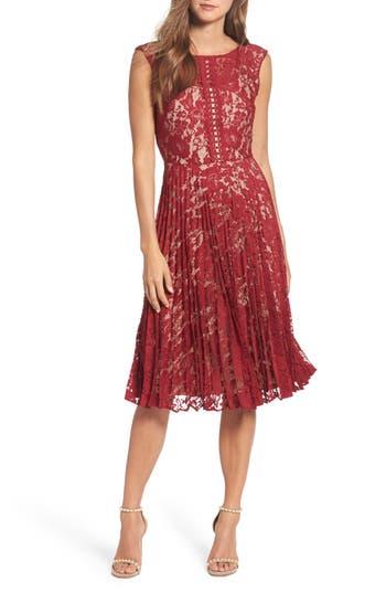Gabby Skye Lace Fit & Flare Dress