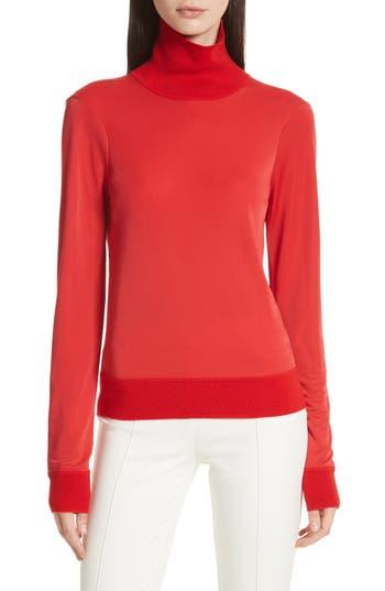 JOSEPH Merino Trim Turtleneck Sweater