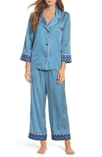 Bed to Brunch Pinstripe Crop Pajamas