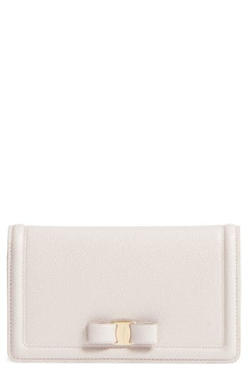Salvatore Ferragamo Vara Leather Wallet on a Chain