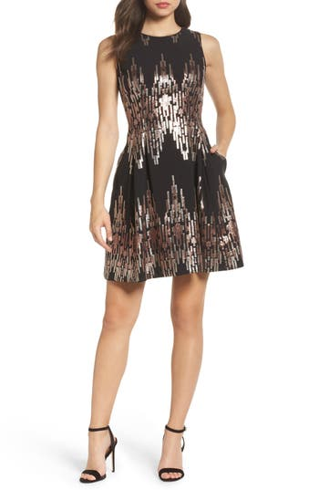 Vince Camuto Sequin Fit & Flar..
