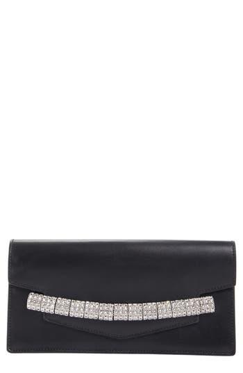 Calvin Klein 205W395NYC Crystal Strap Calfskin Clutch