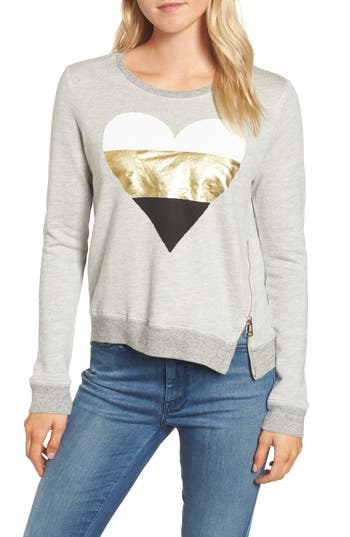 Sundry Heart Side Zip Sweatshirt