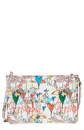 Christian Louboutin Loubiclutch Loubitag Patent Leather Clutch