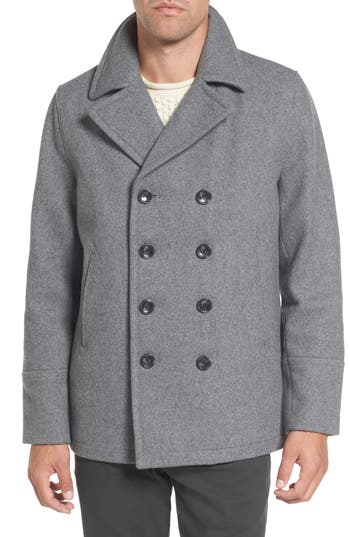 Michael Kors Wool Blend Double Breasted Peacoat Nordstrom
