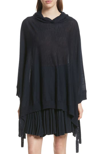 Vince Hooded Wool Cashmere Poncho