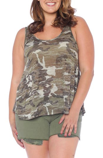 Camo Burnout Tank by Slink Jeans