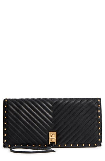 Becky Quilted Leather Clutch by Rebecca Minkoff