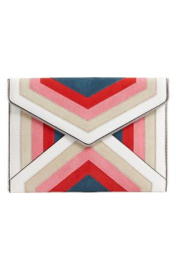 Leo Chevron Stripe Envelope Clutch by Rebecca Minkoff