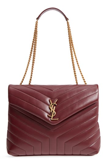 Medium Lou Lou Matelassé Calfskin Leather Shoulder Bag by Saint Laurent