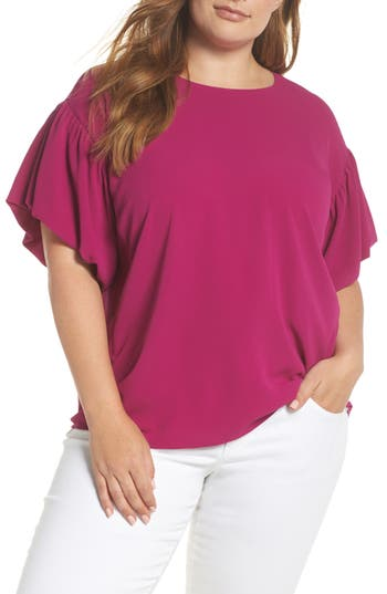 Bubble Sleeve Blouse by Vince Camuto
