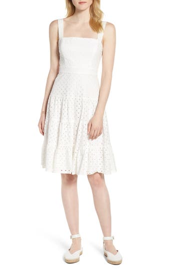 Eyelet Fit & Flare Dress by 1901
