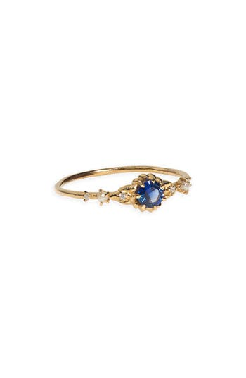 Clara's Dream Sapphire, Diamond & Freshwater Pearl Ring by Sofia Zakia