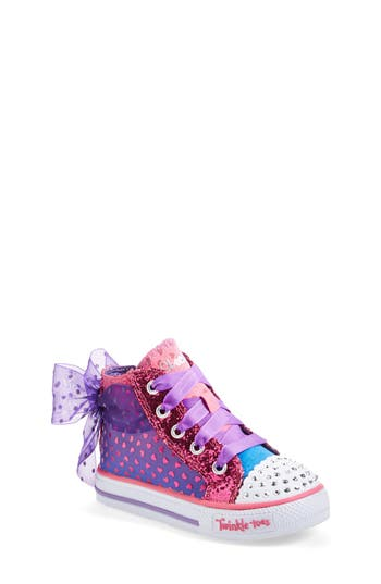 Skechers Twinkle Toes Shuffles Pixie Bunch Light Up