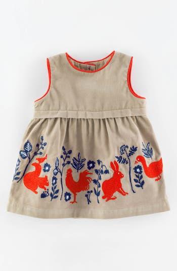 Mini Boden Pinnie Appliqu 233 Corduroy Pinafore Dress Baby