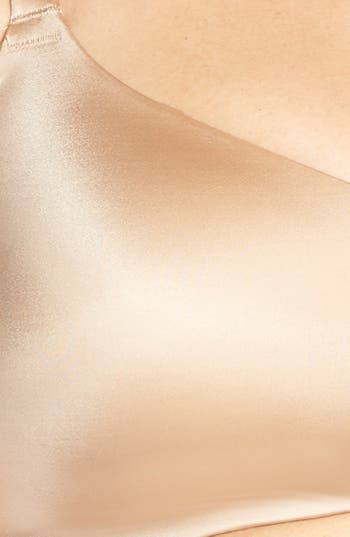 'Smoothing Solutions' Wireless Contour Bra,                             Alternate thumbnail 4, color,                             Bombshell Nude