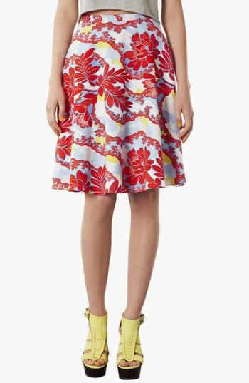 Alternate Image 2  - Topshop 'Portobello Calf' Skater Skirt