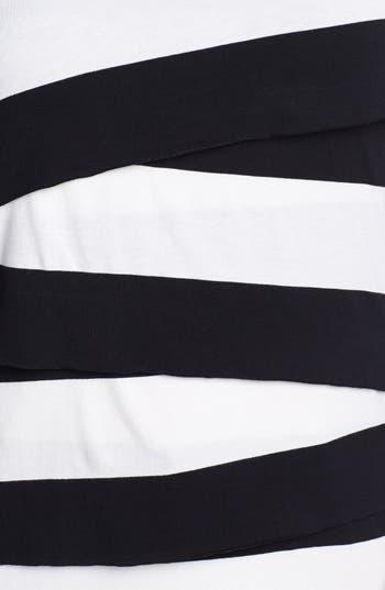 Alternate Image 3  - Vince Camuto 'Zigzag' Stripe Tee (Plus Size)