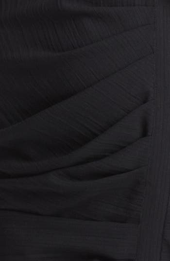 Alternate Image 3  - Band of Outsiders Short Sleeve Ruched Wool Dress