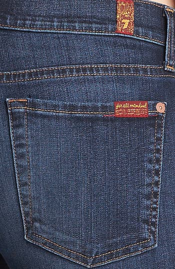 Alternate Image 3  - 7 For All Mankind® 'The Slim Cigarette' Stretch Jeans (Camilo Blue)