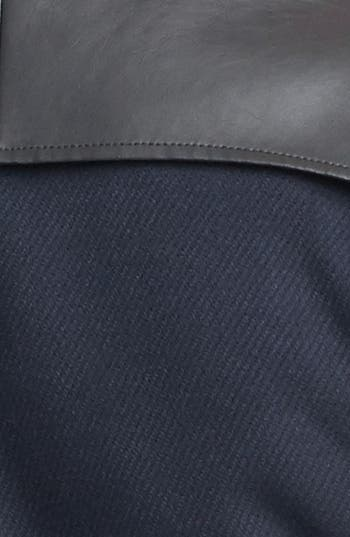Alternate Image 4  - Tulle Faux Leather Yoke Jacket (Juniors) (Online Only)